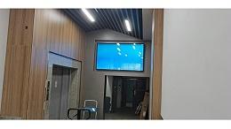 洛菲特86寸壁挂广告机赋能私企